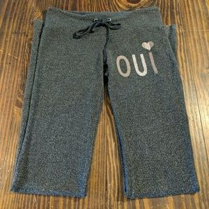 Wildfox Couture 'Oui' Sweatpants in Gray